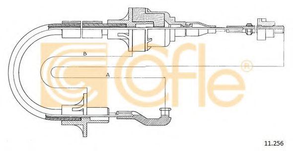 Трос, управление сцеплением COFLE арт. 11256
