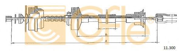 Трос, управление сцеплением COFLE арт. 11300