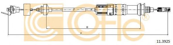 Трос, управление сцеплением COFLE арт. 113925