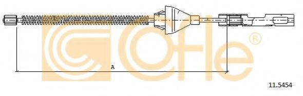 Трос, стояночная тормозная система COFLE арт.