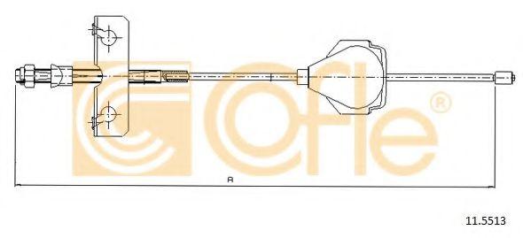 Трос, стояночная тормозная система COFLE арт. 115513