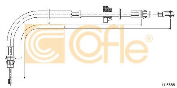 Трос, стояночная тормозная система COFLE арт. 115588
