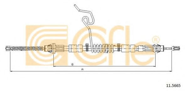 Трос, стояночная тормозная система COFLE арт. 115665