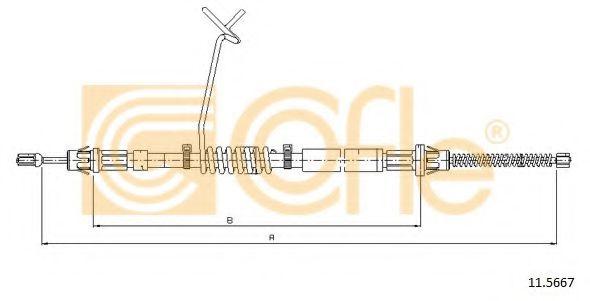 Трос, стояночная тормозная система COFLE арт. 115667