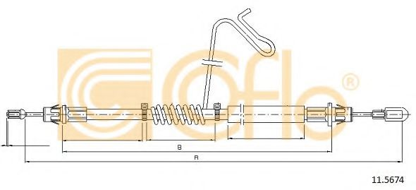 Трос, стояночная тормозная система COFLE арт. 115674