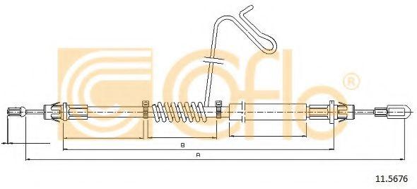 Трос, стояночная тормозная система COFLE арт. 115676