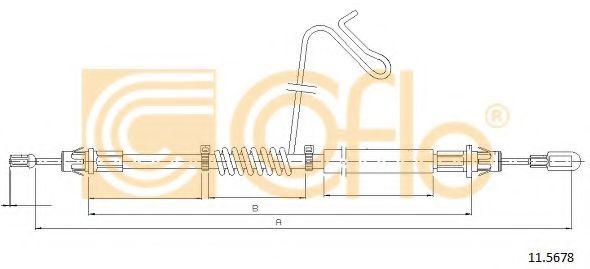 Трос, стояночная тормозная система COFLE арт. 115678