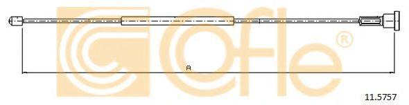 Трос, стояночная тормозная система COFLE арт. 115757