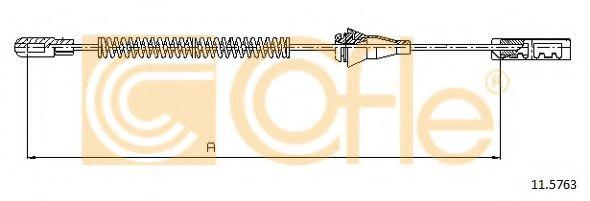 Трос, стояночная тормозная система COFLE арт. 115763