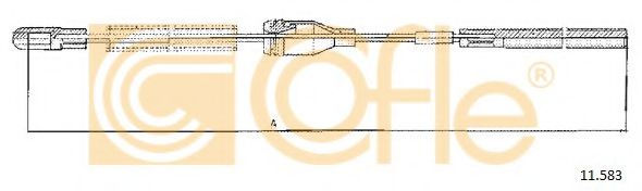 Трос, стояночная тормозная система COFLE арт. 11583
