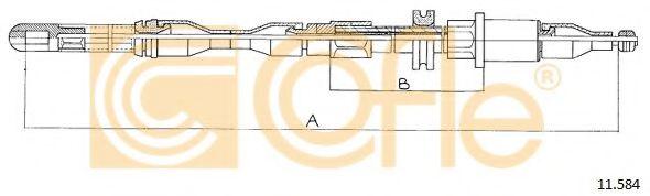 Трос, стояночная тормозная система COFLE арт. 11584