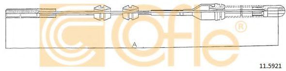 Трос, стояночная тормозная система COFLE арт. 115921