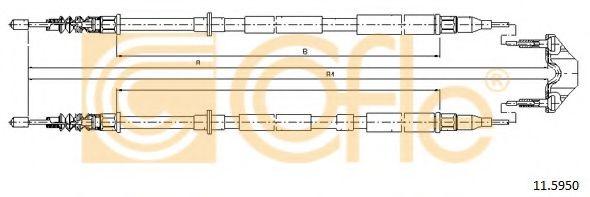 Трос, стояночная тормозная система COFLE арт. 115950