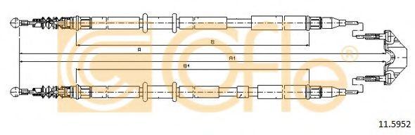 Трос, стояночная тормозная система COFLE арт. 115952
