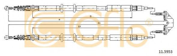 Трос, стояночная тормозная система COFLE арт. 115953