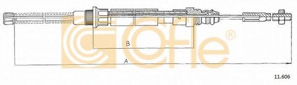 Трос, стояночная тормозная система COFLE арт. 11606