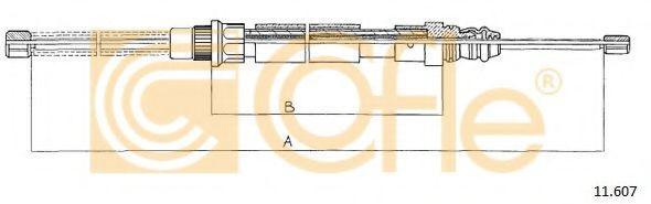 Трос, стояночная тормозная система COFLE арт. 11607