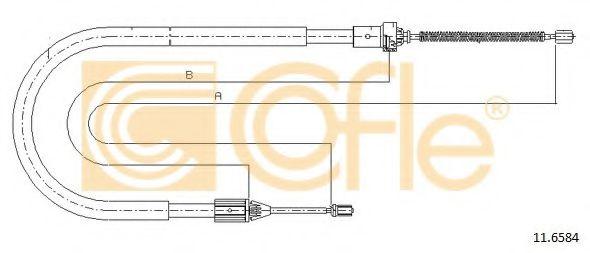 Трос, стояночная тормозная система COFLE арт. 116584