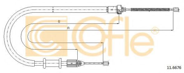Трос, стояночная тормозная система COFLE арт. 116676