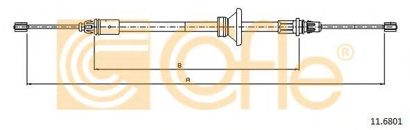 Трос, стояночная тормозная система COFLE арт. 116801