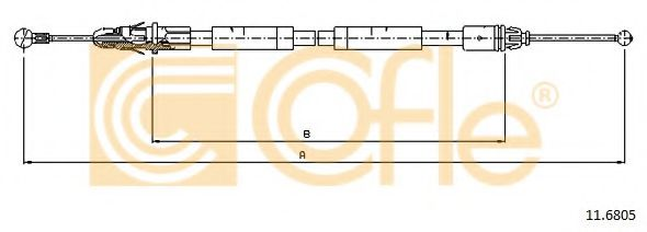 Трос, стояночная тормозная система COFLE арт. 116805