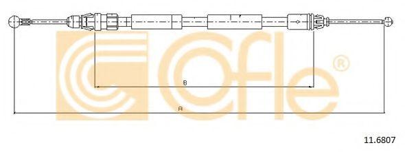 Трос, стояночная тормозная система COFLE арт. 116807