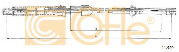 Тросик газа COFLE арт. 11920