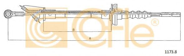 Трос, управление сцеплением COFLE арт. 11721