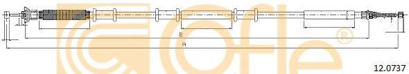 Трос, стояночная тормозная система COFLE арт. 120737