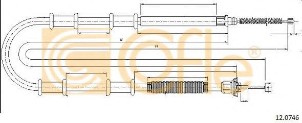 Трос, стояночная тормозная система COFLE арт. 120746