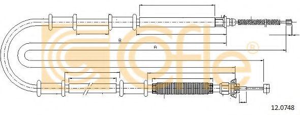 Трос, стояночная тормозная система COFLE арт. 120748