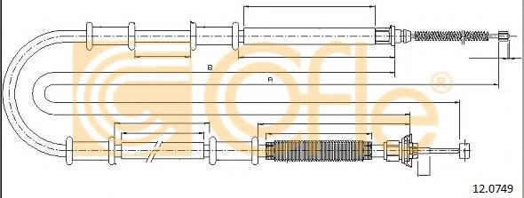 Трос, стояночная тормозная система COFLE арт. 120749