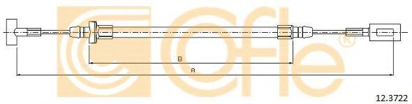 Трос, стояночная тормозная система COFLE арт. 123722