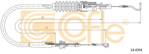 Тросик газа COFLE арт. 144304