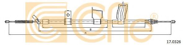 Трос, стояночная тормозная система COFLE арт. 170326