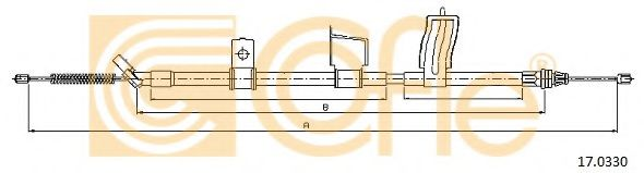 Трос, стояночная тормозная система COFLE арт. 170330