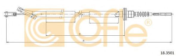 Трос, управление сцеплением COFLE арт. 183501