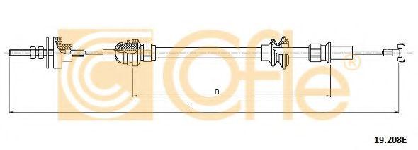 Трос, управление сцеплением COFLE арт. 19208E
