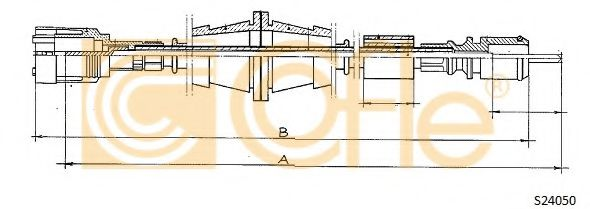 Тросик спидометра COFLE арт. S24050