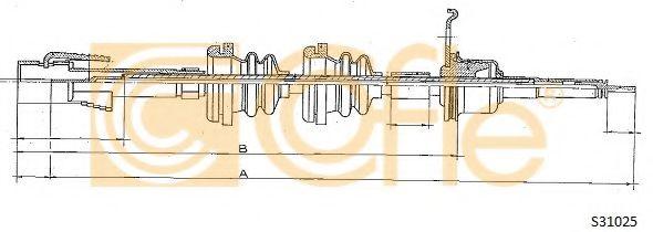Тросик спидометра COFLE арт. S31025