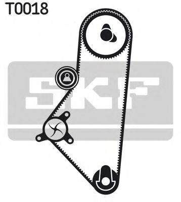 Комплект ремня ГРМ SKF арт. VKMA03201