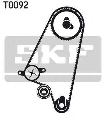 Водяной насос + комплект зубчатого ремня SKF арт. VKMC05121