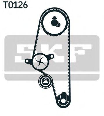 Водяной насос + комплект зубчатого ремня SKF арт.