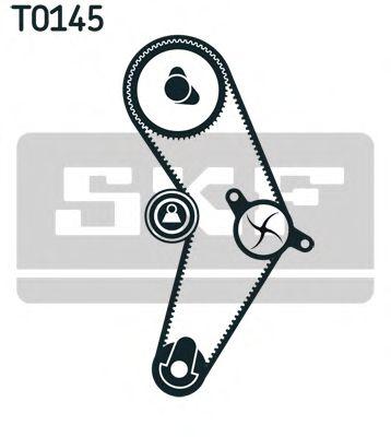 Комплект (ремінь+ролик+помпа) SKF VKMC011131