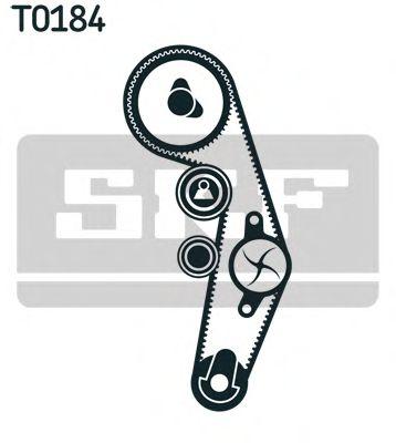 Комплект (ремінь+ролик+помпа) SKF VKMC012504