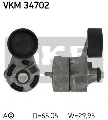 Натяжной ролик, поликлиновой  ремень SKF арт. VKM34702