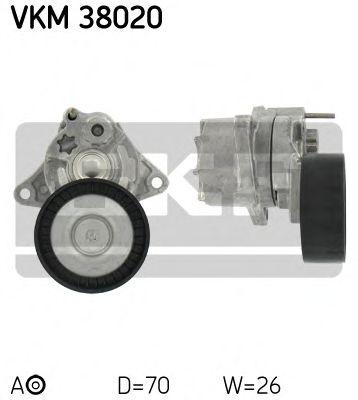 Натяжной ролик, поликлиновой  ремень SKF арт. VKM38020
