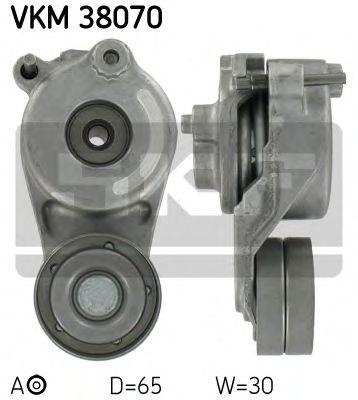 Натяжной ролик, поликлиновой  ремень SKF арт. VKM38070