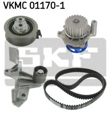 Комплект (ремінь+ролик+помпа) SKF VKMC011701