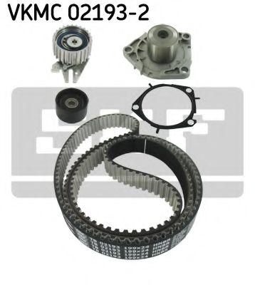 Комплект (ремінь+ролик+помпа) SKF VKMC021932